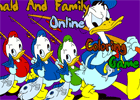coloring pages donald and Family